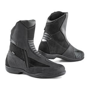 Demi-bottes Moto TCX X-On Road - Cuir pleine fleur combinée avec de la peau chamoisée, Gore Tex, homologuées (taille 40 à 46)