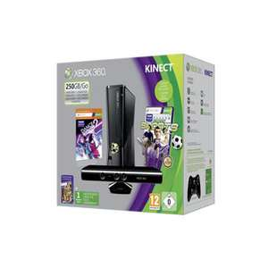 Xbox 360 250 Go + Kinect + Dance Central 2 + Kinect Sports
