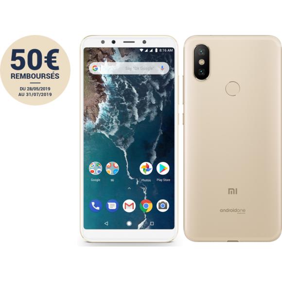 """Smartphone 5,99"""" Xiaomi Mi A2 - Snapdragon 660, 6Go RAM, 128 Go (via ODR de 50€)"""