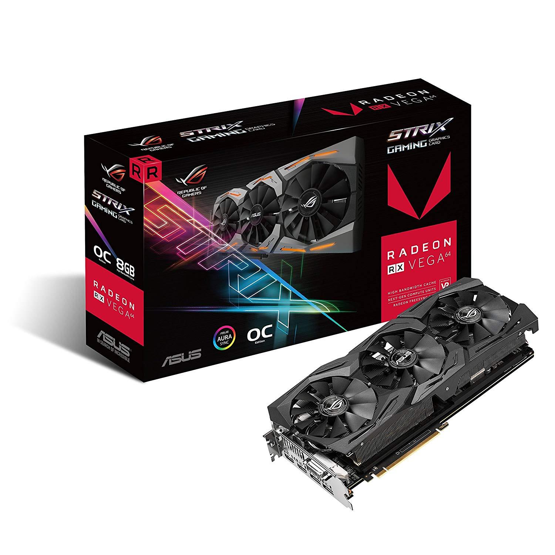 Carte graphique Asus ROG Strix Radeon RX Vega 64 OC Gaming - 8 Go