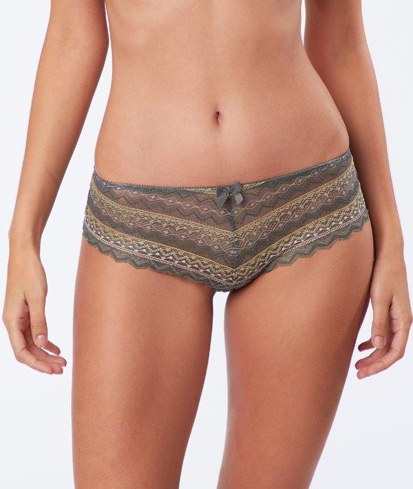 Sélection de culottes à 7€ - Ex : Shorty en dentelle géométrique
