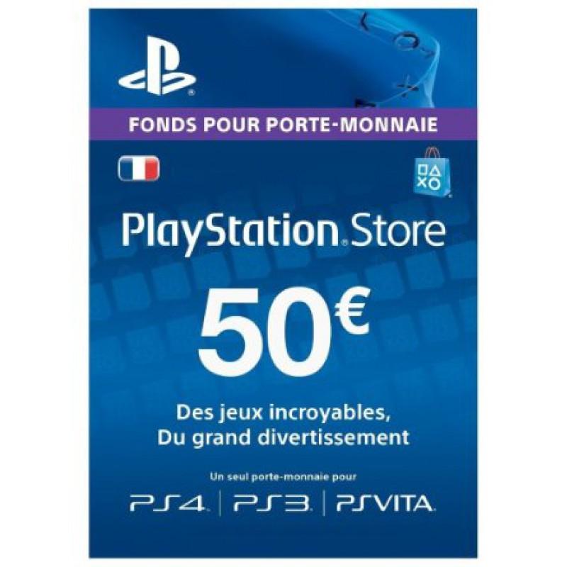 Carte PlayStation Network PSN de 50€ (dématérialisée)