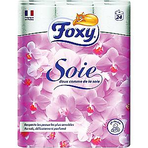 Lot de 2 paquets de Papier toilette Foxy - 2 x 24 rouleaux
