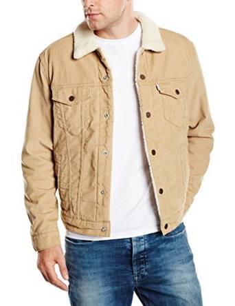 Sélection de vestes en promotion - Ex : Veste en jean Levi'S manches longues Beige