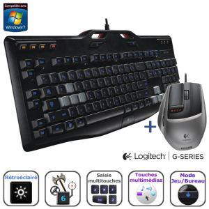 Souris Logitech G9x + clavier G105