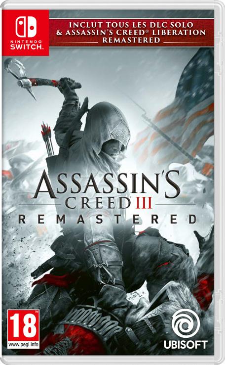 Sélection de jeux Nintendo Switch en soldes - Ex : Assassin's Creed III Remastered (Dématérialisé)