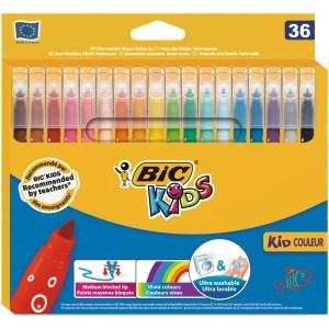 Sélection de produits scolaires en promotion - Ex: Lot de 36 feutres de coloriage Bic Kids (Via 3,12 € sur la carte de Fidélité)