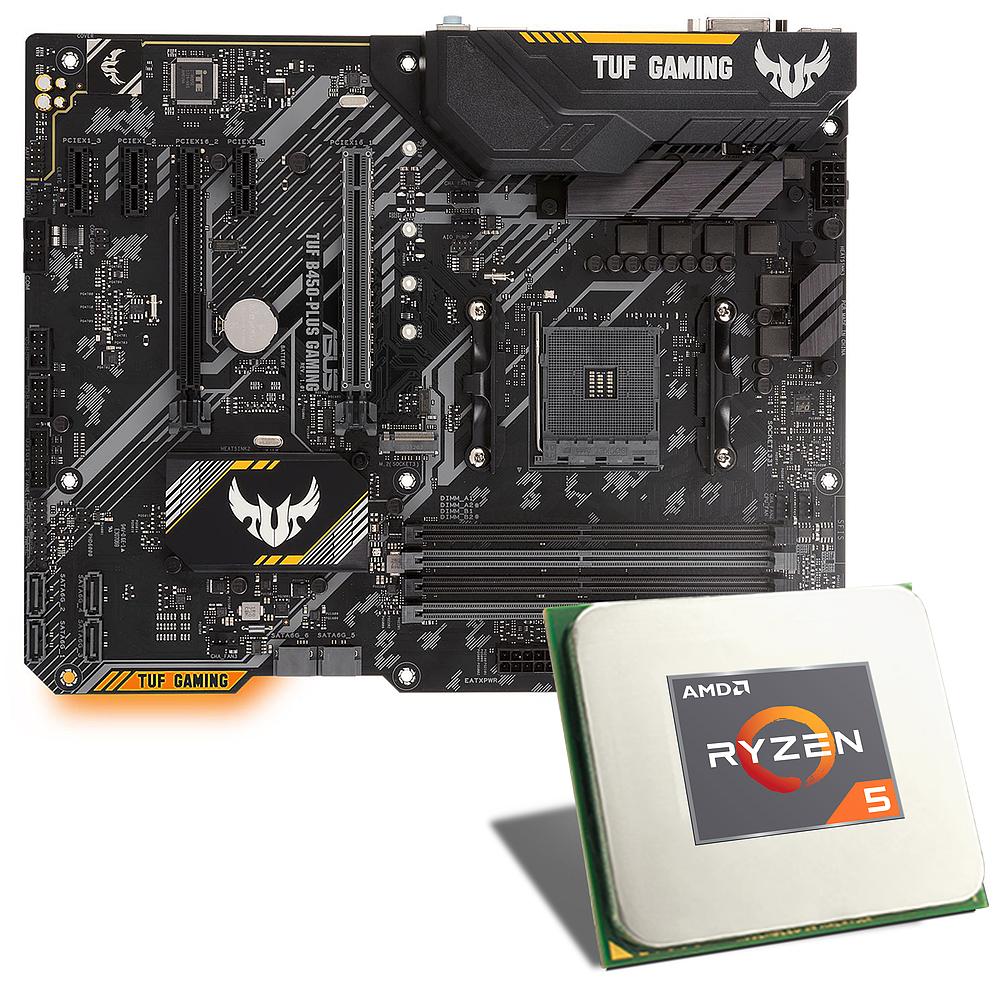 Processeur AMD Ryzen 5 3600 + Carte mère Asus TUF B450-Plus GAMING (Mise à jour)