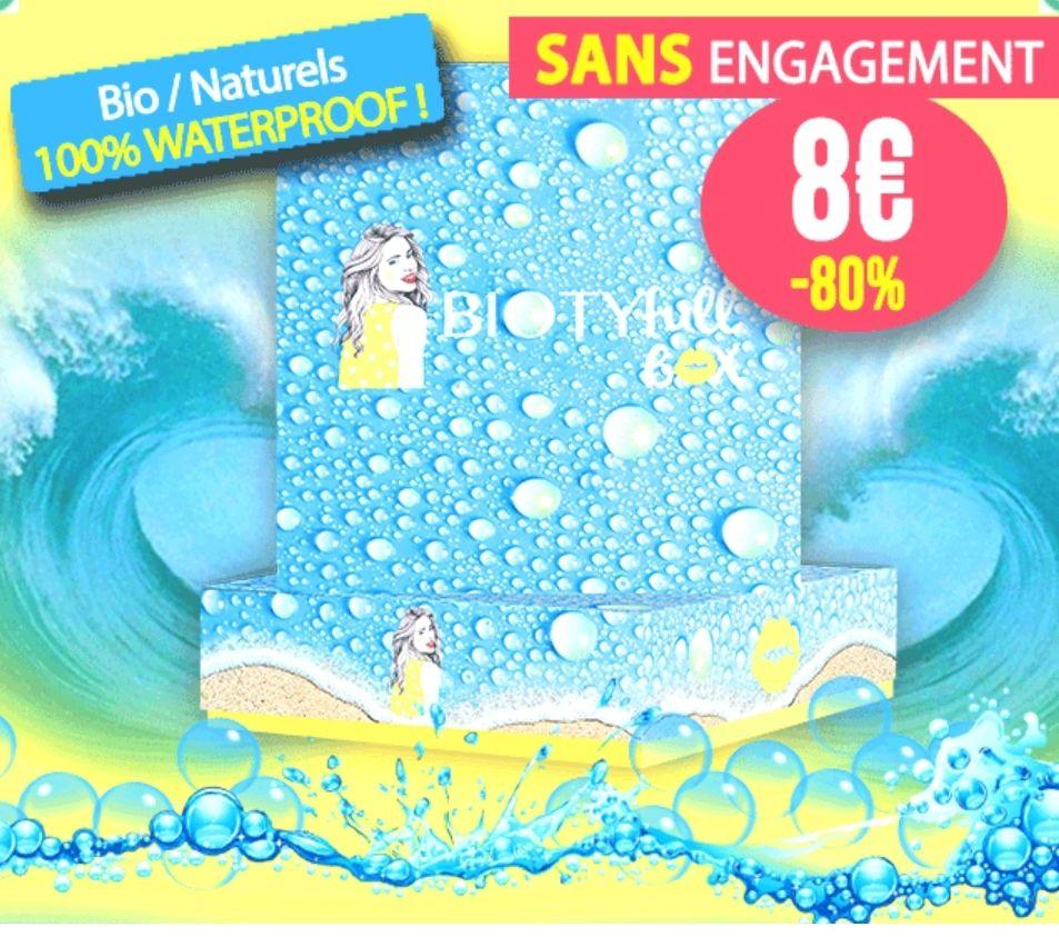 Box de 5 produits de beauté Waterproof (bio / naturels) - BiotyFullBox.fr