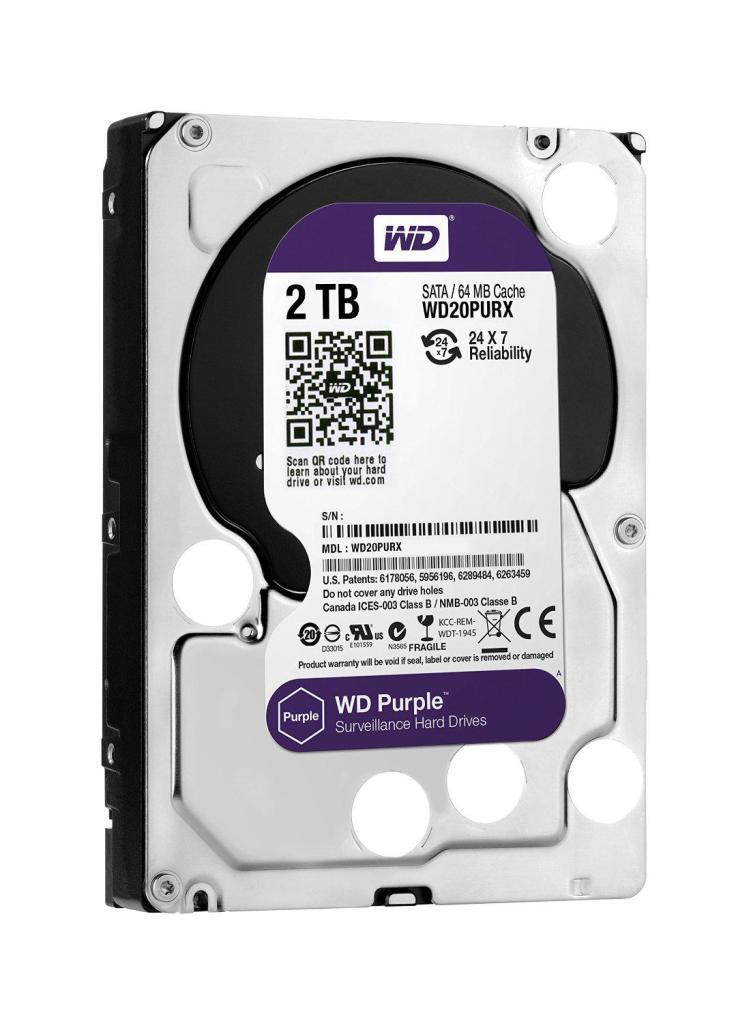 "Disque dur 3.5"" Western Digital Purple Desktop WD20PURX - 2 To"