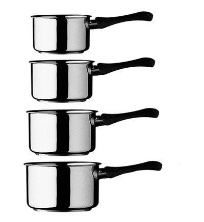 Lot de 4 casseroles inox 18/10 Guy Degrenne - tous feux dont induction (Vendeur tiers