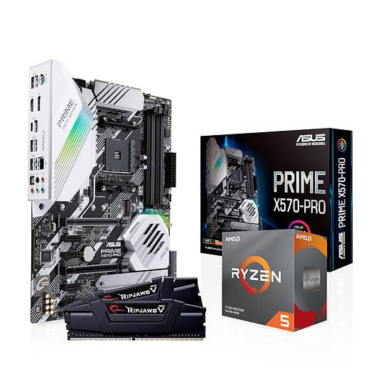 Processeur AMD Ryzen 5 3600 + Carte mère Asus Prime X570-Pro + Kit mémoire G.skill 2x8Go 3200 MHz