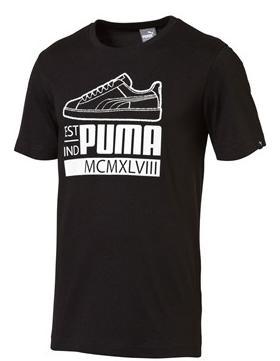 Jusqu'à 70% de réduction sur une sélection d'articles Puma - Ex : T-shirt Varsity sneaker noir