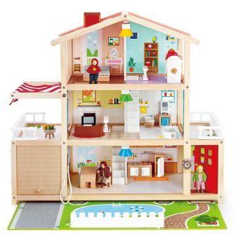 Jouet Maison de poupées Playset Hape - Villa Moderne De Poupées