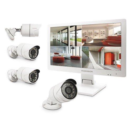 "Kit de vidéosurveillance IP Thomson 512444: 4 caméras AHD + Ecran 19"" (maisonic.com)"