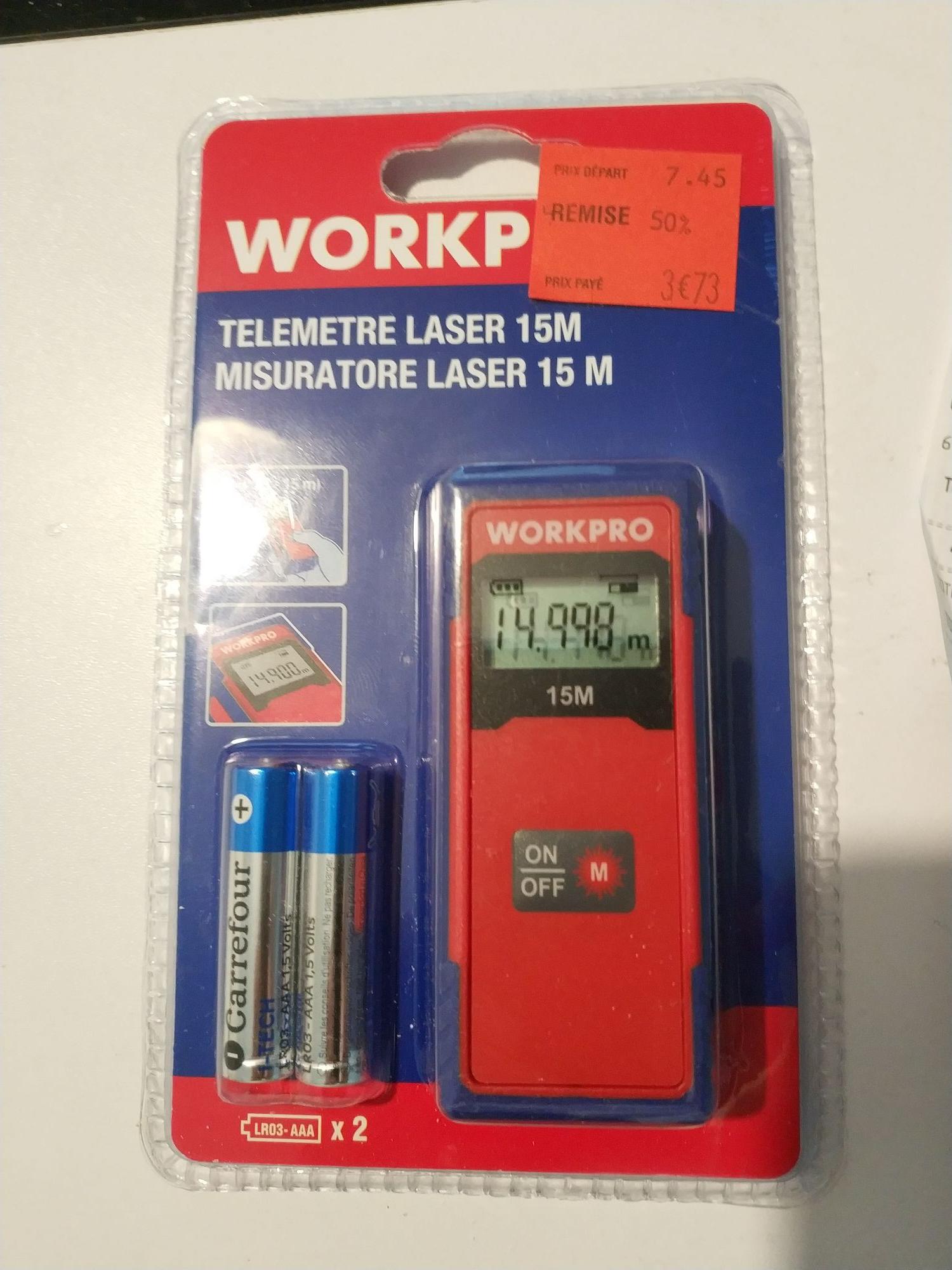 Télémètre laser Workpro portée 15m (Portet-sur-Garonne 31)