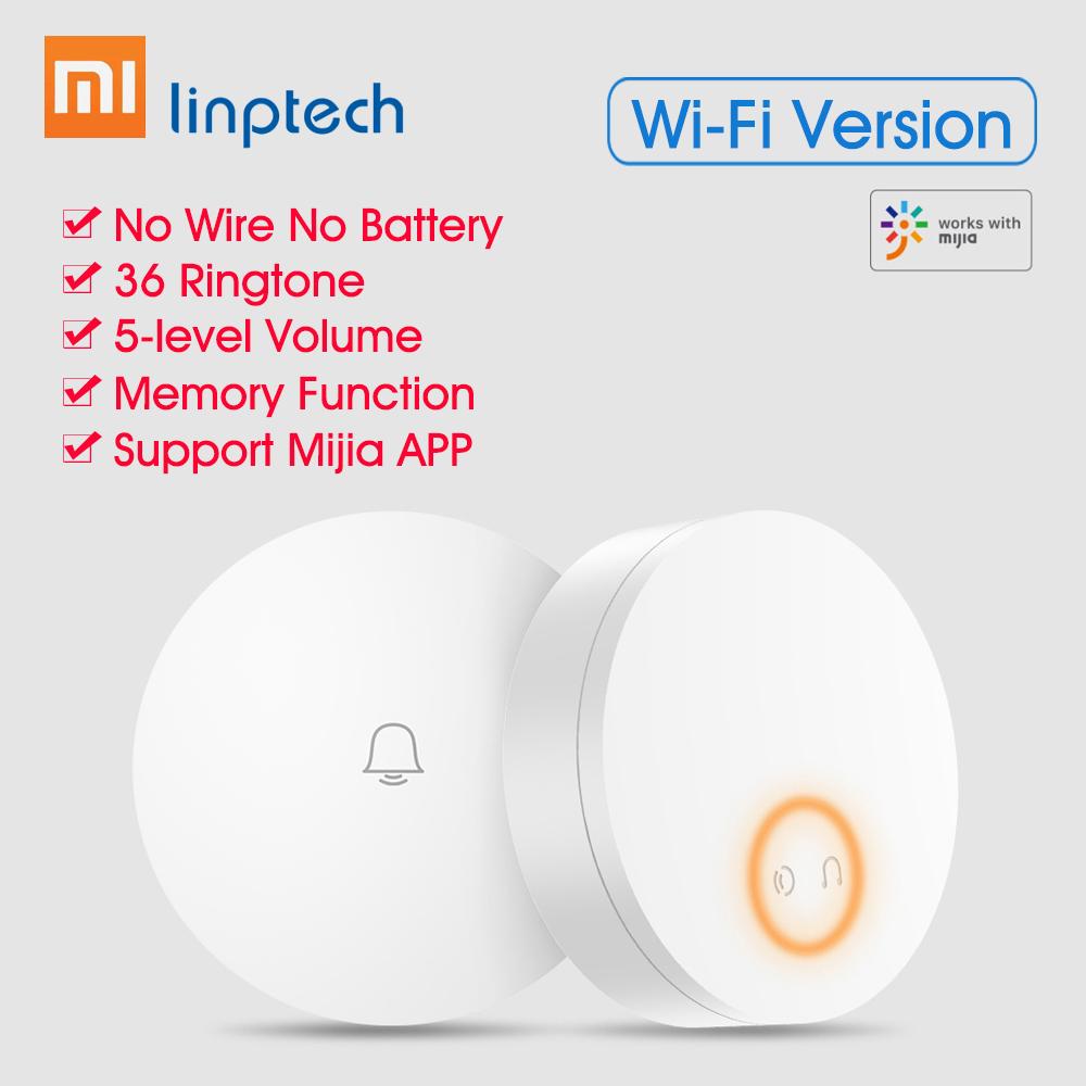 Sonnette sans-fil Wifi Xiaomi Mijia Linptech - 110-240 V, Compatible APP Mija