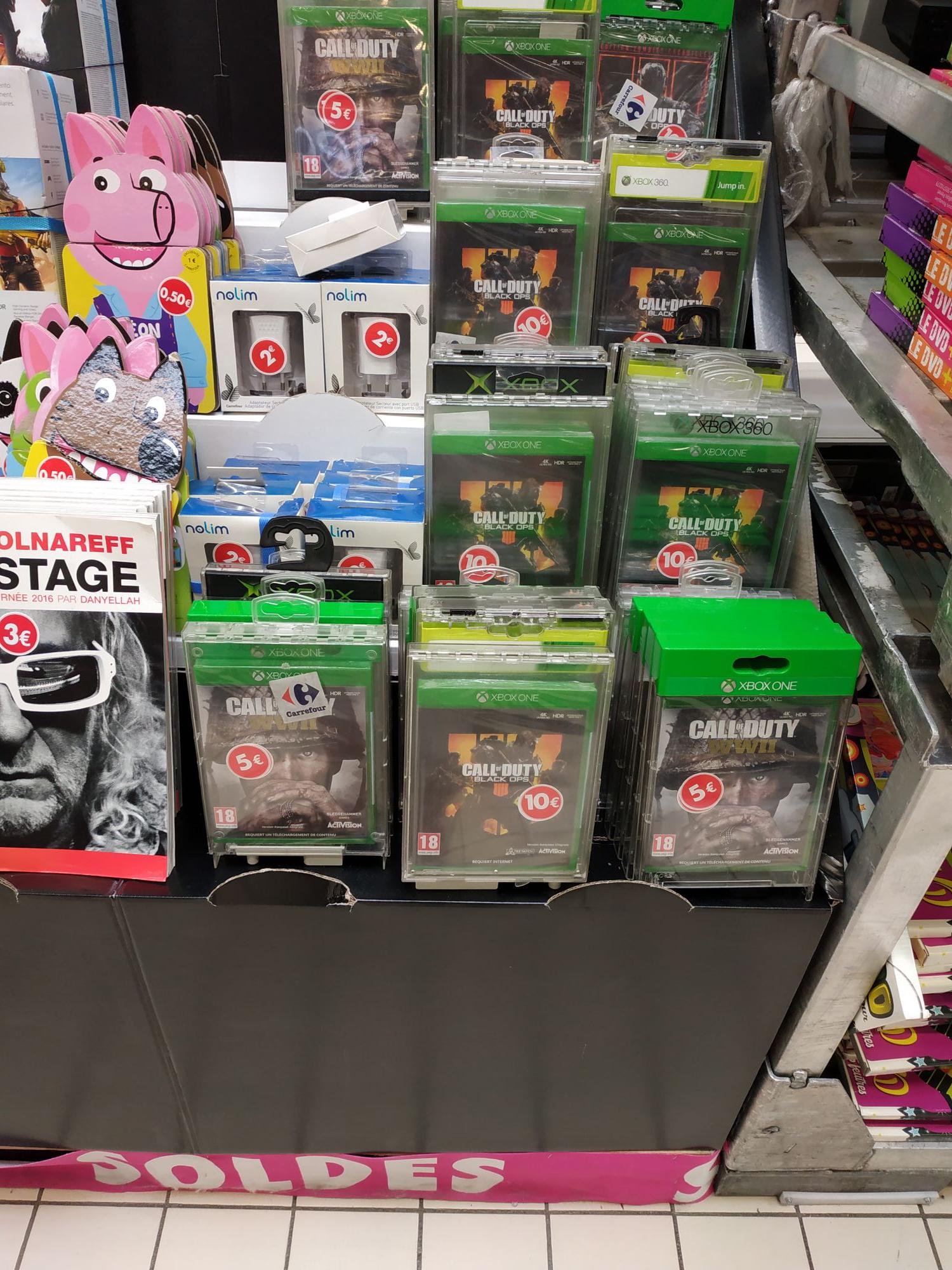 Sélection de jeux Xbox One et PS4 en promotion. Ex : Call of Duty : WWII à 5€ (CC Atlantes 37)