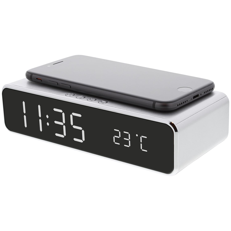 Réveil numérique LCD + Chargeur sans fil Maxxter