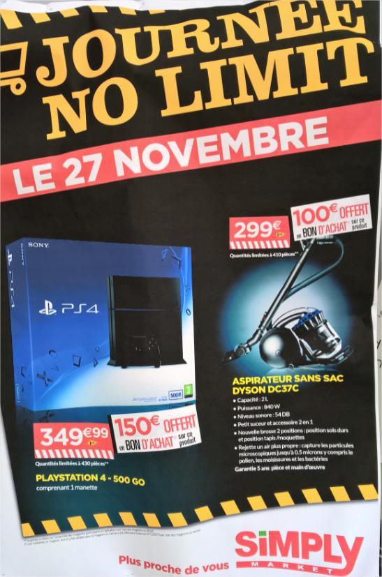 Console PS4 500 Go - Noir (avec 150€ en bon d'achat)