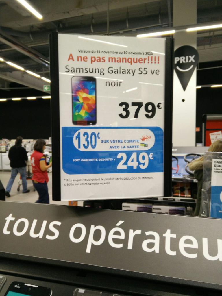 "Smartphone 5.1"" Samsung Galaxy S5 Neo (via 130€ sur la carte fidélité)"