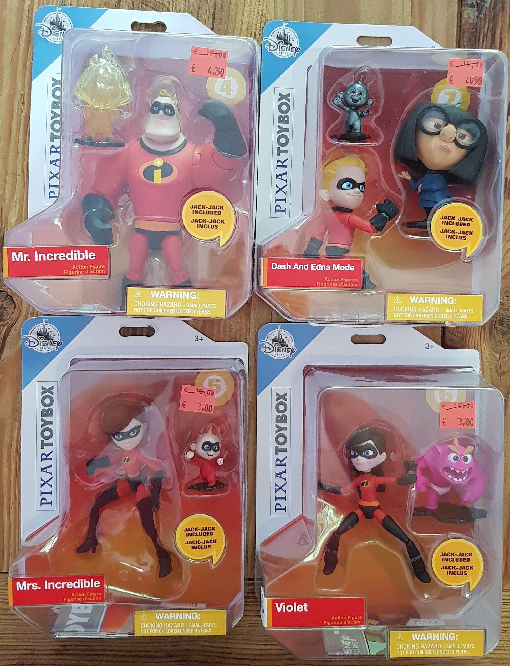 Sélection de figurines articulées Disney/Pixar en promotion - Ex : Mme Indestructible + Jack Jack (Galeries Lafayette Nantes 44)
