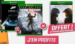 Jeux Forza 6 + Rise of the Tomb Raider + Halo 5 : Guardians sur Xbox One