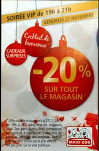 20% de réduction de 19h à 21h