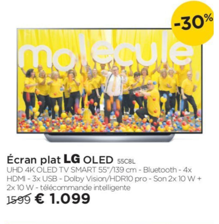 """TV 55"""" LG OLED55C8PLA (OLED, Smart TV, 4K) - Molecule Vichte (Frontalier Belgique)"""
