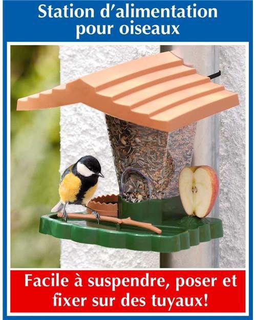 Mangeoire pour oiseaux - 25.5 x 18.5 x 23 cm