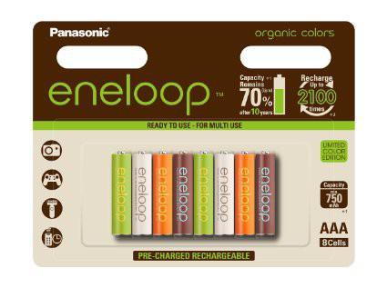 8 accus rechargeables AAA Eneloop 850 mAh en édition limitée