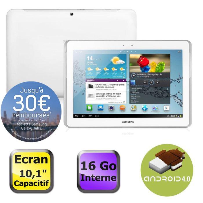 Samsung Galaxy Tab 2 10.1 Wifi 16Go Blanc (ODR inclus)