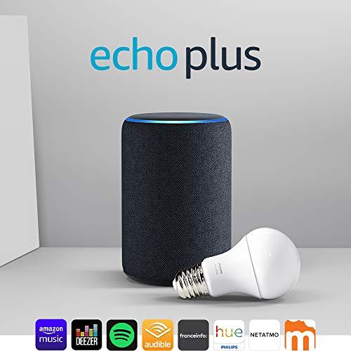 [Prime] Enceinte connectée Amazon Echo Plus (2ème génération) + Ampoule connectée Philips Hue