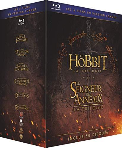 [Prime] Coffret Blu-Ray Les Trilogies Le Hobbit + Le Seigneur des Anneaux - Versions Longues