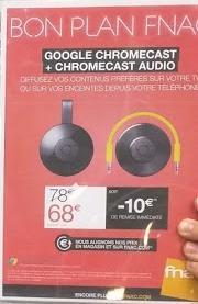Clé HDMI Google Chromecast v2 + Chromecast Audio