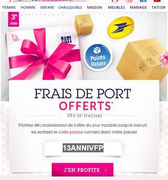 Frais de port offerts dès 35€ d'achats