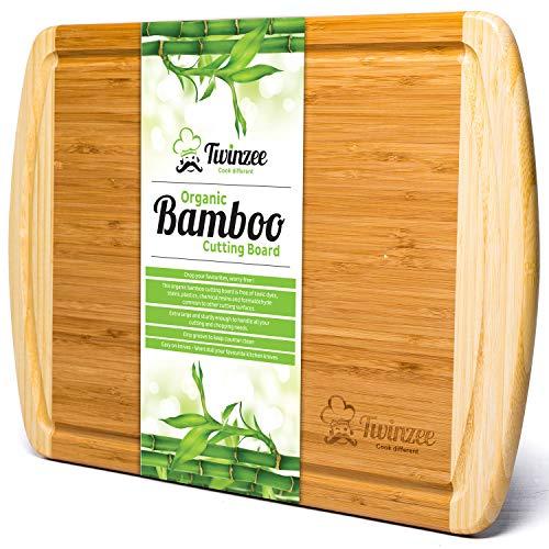 Planche à découper  en Bambou Twinzee - 44x32x1,9 cm (Vendeur tiers)