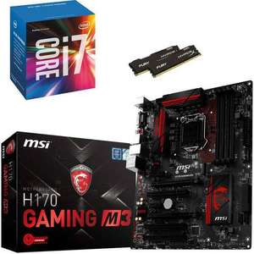 Kit d'évolution Intel Core i7-6700 + Carte mère MSI H170 M3 + 8 Go RAM DDR4 + jeux