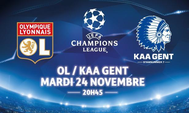 2 places gratuites pour le match OL - La Gantoise au stade de Gerland