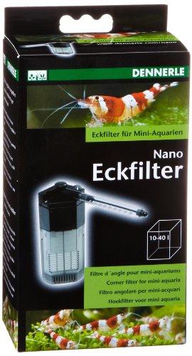 Filtre d'angle pour aquarium Dennerle Nano Clean - 10 à 40 L