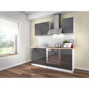 Ensemble Cuisine complète Loft - 180cm, gris laqué