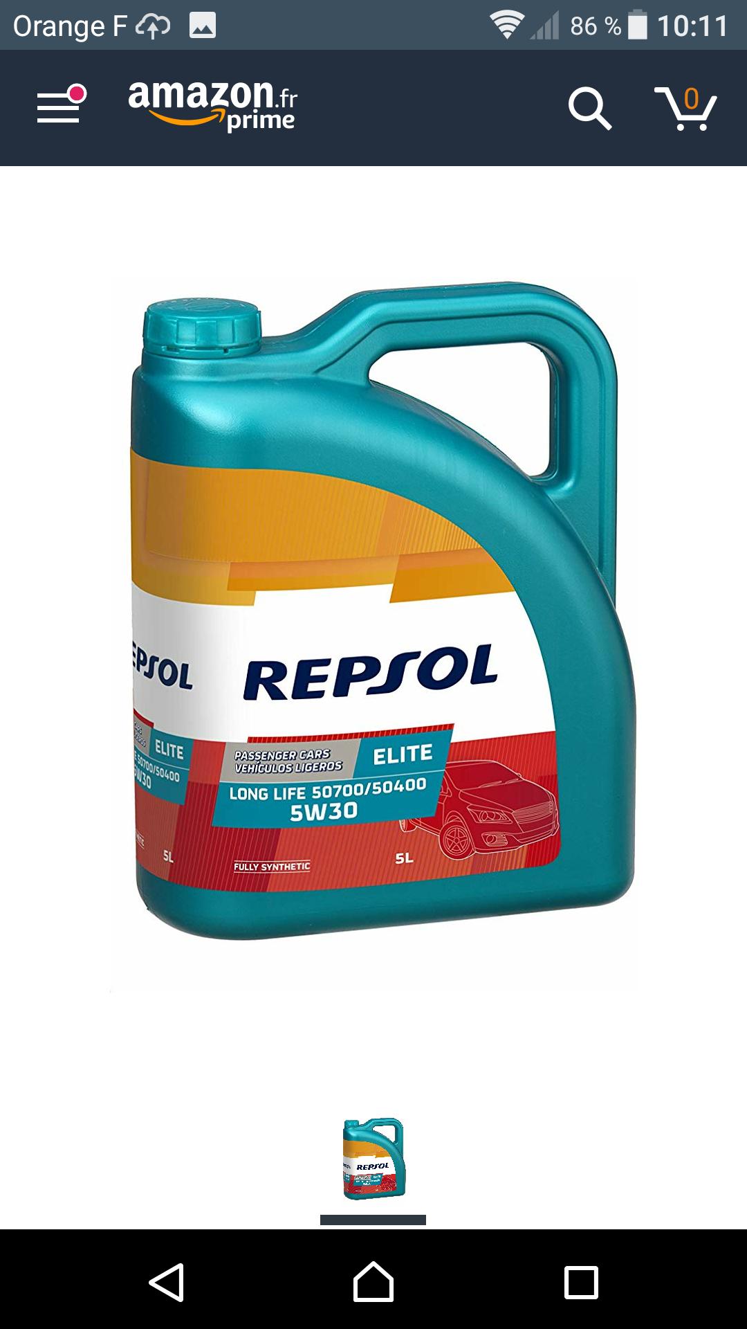 [Prime] Huile moteur LL Repsol - 5 litres