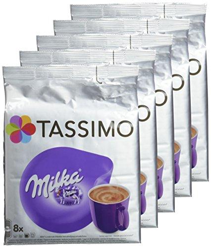 [Prime] Lot de 5 paquets de 8 dosettes Tassimo Chocolat Chaud Milka