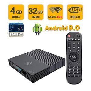 Box TV Sunnzo F2 avec télécommande - Android 9.0, 4 Go RAM, 32 Go ROM (Vendeur tiers)