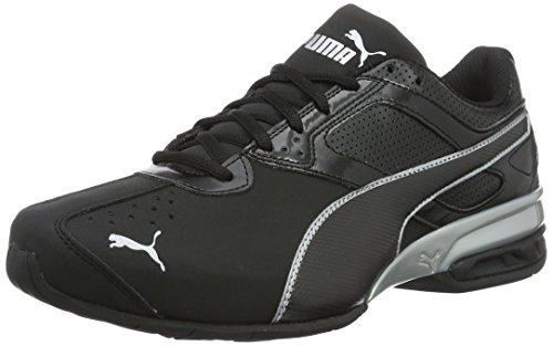 [Prime]  Chaussures de Running Compétition Puma Tazon 6 FM Black Silver pour Hommes - Tailles 46