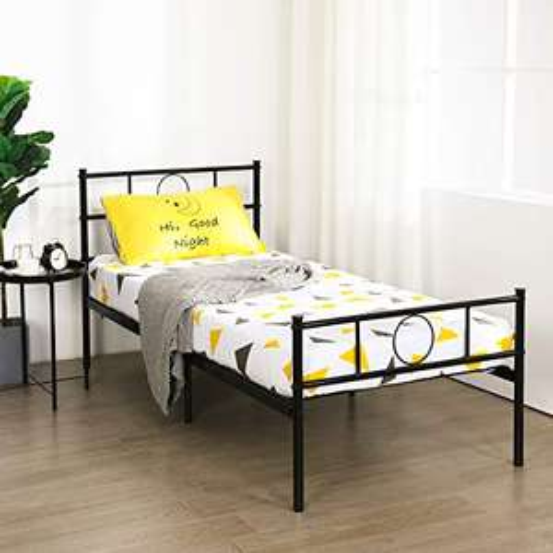 [Prime] Lit Simple Aingoo Design en Métal avec Sommier - 90 x 190cm (Vendeur Tiers)