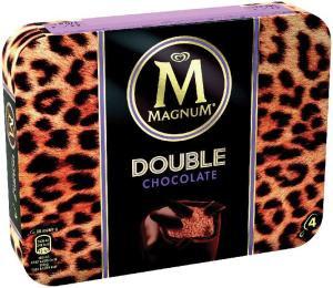 Lot de 4 Bâtonnets Glacés Magnum Double -  Variétés au choix (Via BDR)