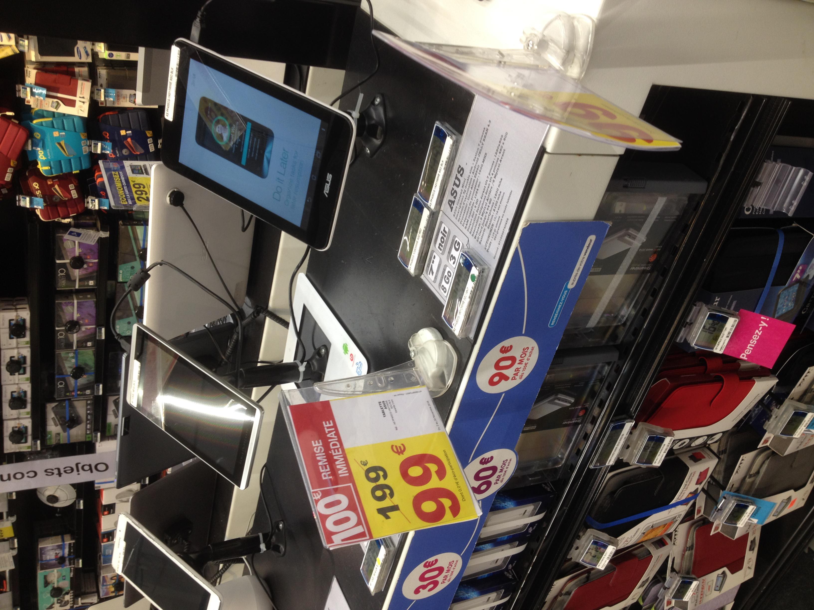 "Tablette 3G 7"" Asus Fonepad mini : Intel Atom Z2560, 1 Go RAM"