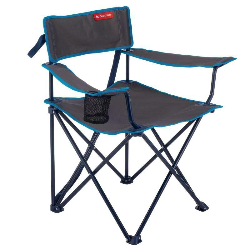 Lot de 4 chaises pliantes de camping avec 2 accoudoirs et 1 porte-gobelet - Chantepie (35)