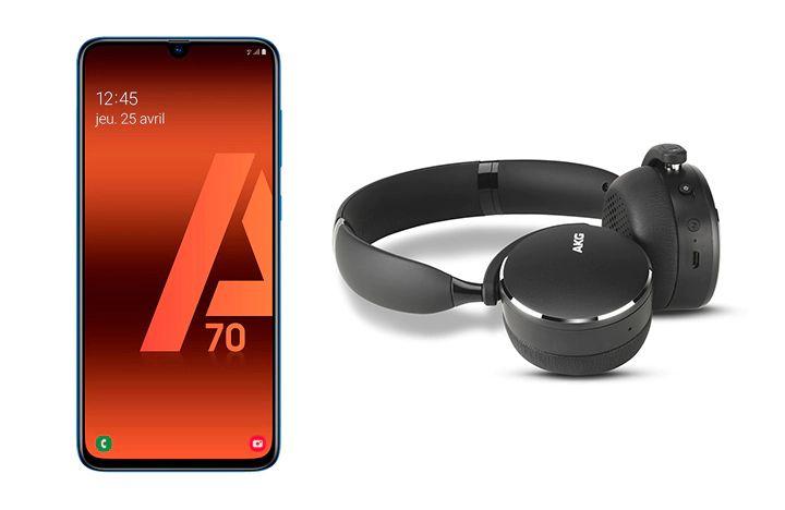 """Smartphone 6.7"""" Samsung Galaxy A70 - RAM 6Go, 128 Go + Casque AKG Y500"""
